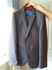 Grey with purple/blue sheen men Ventuno 21 Suit Jacket 38R trousers 32R