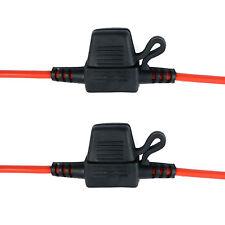 2 X Hoja en línea Mini Portafusibles a Prueba De Salpicaduras Para 12V 20A FUSIONA CAR