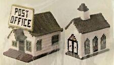Vintage Columbia-Minerva Needlepoint Idea Kit Post Office & Church
