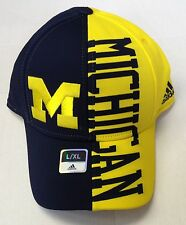 NCAA Michigan Wolverines Adidas Curve Brim Structured Flex Cap Hat M072Z NEW!