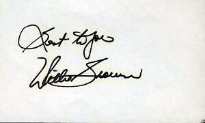 Willie Brown Hof Signed Jsa Cert Sticker 3x5 Index Card Authentic Autograph