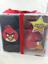 Angry birds soap lotion pump dispenser fingertip towel gift set new in box red