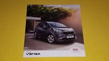 Kia Venga 1 Air 2 3 4 brochure sales catalogue & price list May 2017 MINT