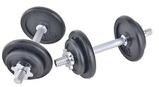 Dumbbell Set 20kg Ghisa Manubri COPPIA con spinlocks fitness pesi
