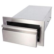 """Weatherproof Single 14"""" Outdoor Kitchen Bbq Island Stainless Steel Bbq Storage"""