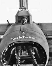 USAAF WW2 B-17 Bomber Phyllis Marie Tail Gun Photo 390th BG RAF Framlingham WWII