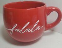 Modern Gourmet Ceramic FALALA Red Christmas Holiday Coffee Tea Mug