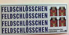 Feldschlösschen Bier Decals 1:160 oder Spur N Wasserschiebebilder
