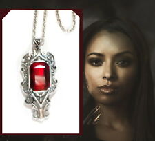 Vampire Diary the Originals Family Bonnie Bennett Faux Ruby Vintage Necklace