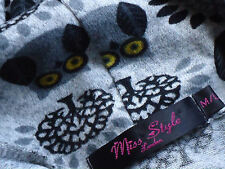 MISS STYLE GreyS/sOwlPrintShortPocketed SizeSM as NEW