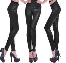a3c3100c3 Leggings de mujer negro de piel sintética   Compra online en eBay