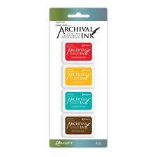 Ranger Wendy Vecchi Archival Mini Ink Pad Kit, Set 1 Permanent Ink Pads, 4 pads