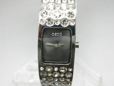 Stainless Steel Strap Rectangle Watches with 12-Hour Dial