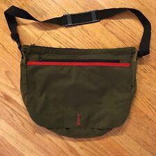 HUGO BOSS Olive Green Nylon Shoulder Messenger Bag
