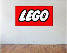 Lego Logo Vinyl Sticker Art Decal Any Room Kids Toy Minecraft Star Wars Bricks
