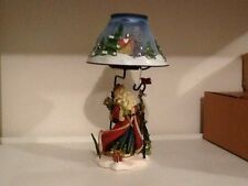 Old Saint Nick Candlestand with shade and glass votive holder. Home Interiors Nb
