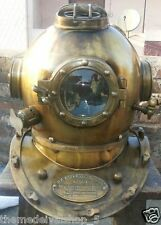 Antique Scuba SCA Divers Diving Helmet US Navy Mark V Deep Sea Full Size Marine