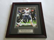 """Mohamed Sanu   8"""" x 10""""  Autographed Photo in Matted 11"""" x14""""  Mahogany Frame"""
