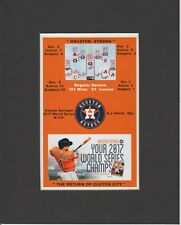 HOUSTON ASTROS 2017 WORLD SERIES CHAMPS MATTED PIC COMMEMORATIVE BRACKET/CELEBRA