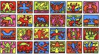 BIG(!) Keith Haring RETROSPECT Print 100x70cm Plate signed, Estate BANKSY Warhol