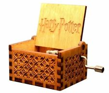 Harry Potter Engraved Wooden Music Box Hedwig Theme Collectible