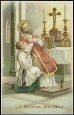 antico santino cromo-holy card S.ANDREA AVELLINO