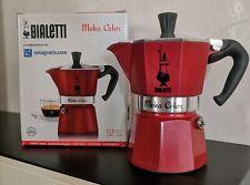 caffettiera bialetti moka express 3 tazze alluminio rossa o grigia