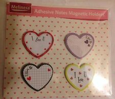 Love Hearts Adhesive Notes Magnetic Holders