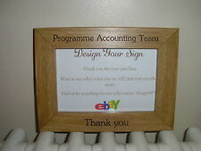 PERSONALISED WOODEN PHOTO FRAMES - ANY OCCASION - 6x4, 7x5 or 8x6 - GREAT GIFT