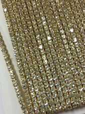 1 Row Gold Rhinestone Cake Banding Ribbon Trim Wedding Decoration 1 YARD