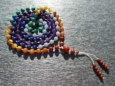 High Quality Seven Chakra Mala, Hand-Knotted Mala (108 and Guru), Necklace, Brac