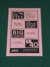 1983 THE FIXX & BIG COUNTRY ORIGINAL CONCERT HANDBILL FLYER ANN ARBOR MICHIGAN