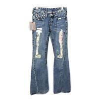 NWT True Religion Jeans Joey Patch Flare 27 x 33