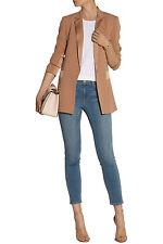 DKNY Satin-trimmed crepe blazer Size 4,$445 NWT Net-A-Porter