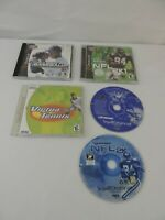 Lot of 4 Sega Dreamcast Sports Games - NFL2k BLITZ VIRTUA TENNIS World Series2k1