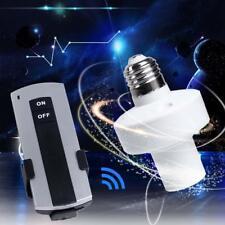 E27 Screw Wireless Remote Control Light Lamp Bulb Holder Cap Socket Switches GA