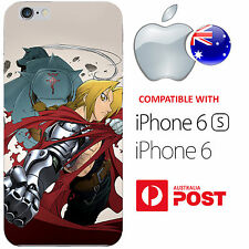iPhone 6 6S Silicone Case Cover Fullmetal Alchemist Edward Elric Mustang Roy AUS