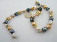 1 filo di perle australiane barocche mixcolor grezze di 13x10 mm a 20x12 mm