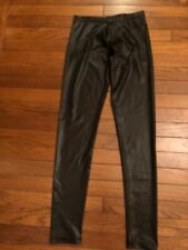 H & M Leather LOOK Black Legging Size 4