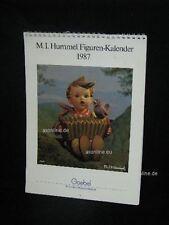 Goebel Hummel Kalender Calendar 1987, Titelbild Akkordeonspieler mit Vogel