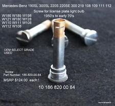 MERCEDES 190SL 300SL 220SE Screw for license plate light bulb W108 W111 W128