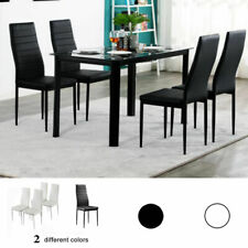 Set of 4/6 Stunning Leather Dining Chairs Kitchen Dining Room Furniture Usa