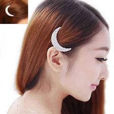 Cute Elegant Hairpin For Women Girls Diamante Moon Headwear Hair Clip