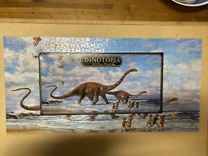 Dinotopia Jigsaw Puzzle - 750 Piece Seaside Romp (Missing 1) 1993 - Free Post