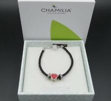 Chamilia Sterling Silver Kiss Me Reversible Heart Swarovski Crystal Bracelet