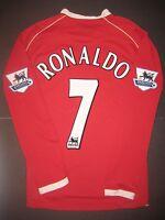 2006-2007 Nike Manchester United Cristiano Ronaldo Long Sleeve Jersey Shirt Kit