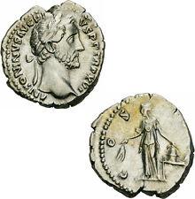 Antoninus Pius Denar Rom 152-153 COS IIII Annona Modius Schiff Kornähren RIC 221
