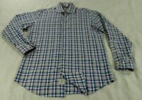 Peter Millar Long Sleeve Button Front Shirt Mens Medium Multi Color Plaid Cotton