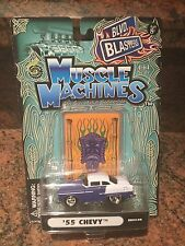 1:64 MUSCLE MACHINES 55 Chevy  In Purple