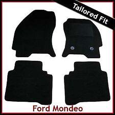 FORD MONDEO Mk3 2000-2007 Tailored Carpet Car Floor Mats BLACK